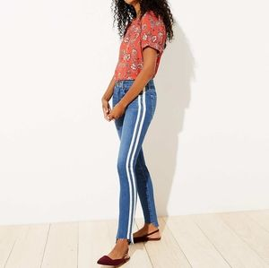 NWT LOFT Side Trim Skinny Jeans